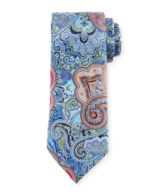 Ermenegildo Zegna | Blue Quindici Paisley Tie for Men | Lyst