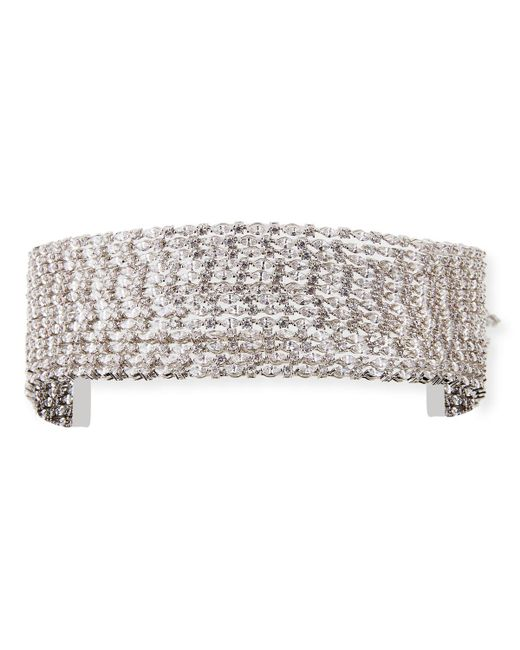 Fallon - Metallic Marquis Stacked Choker Necklace - Lyst