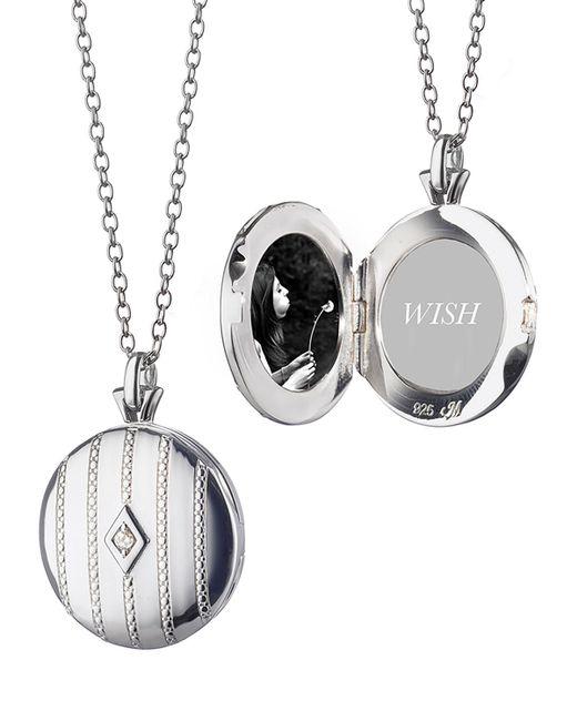 Monica Rich Kosann - Metallic Beaded Center Diamond Locket - Lyst