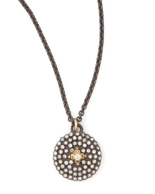 Armenta - Metallic Pave Diamond Shield Pendant Necklace - Lyst
