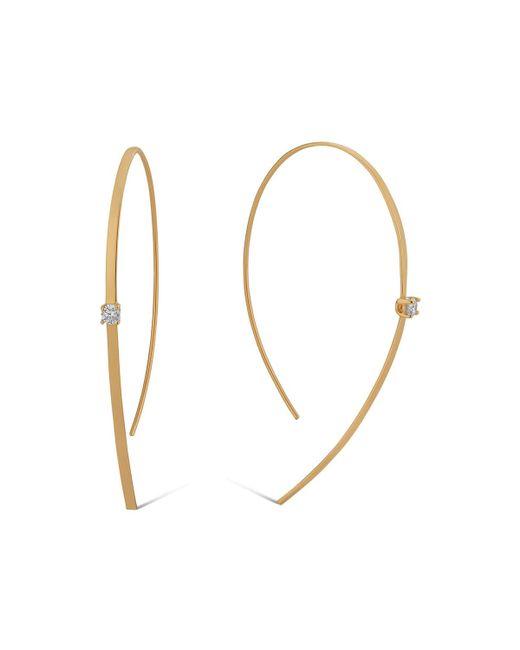 Lana Jewelry - Metallic 14k Solo Hooked On Hoop Diamond Earrings - Lyst
