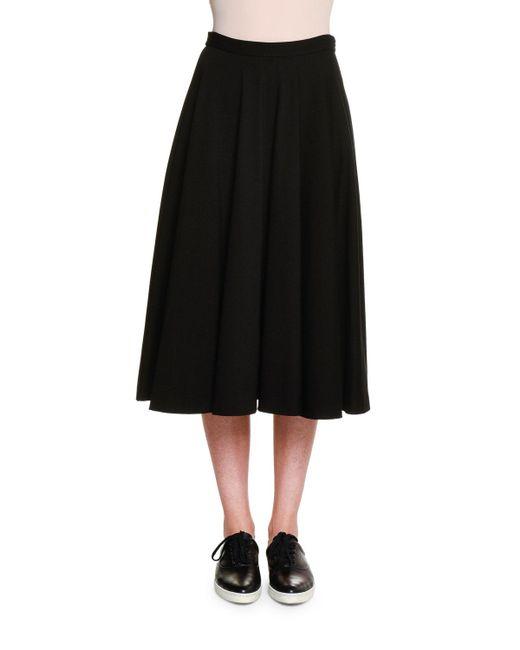 Tomas Maier | Black Atomic Jersey Circle Skirt | Lyst