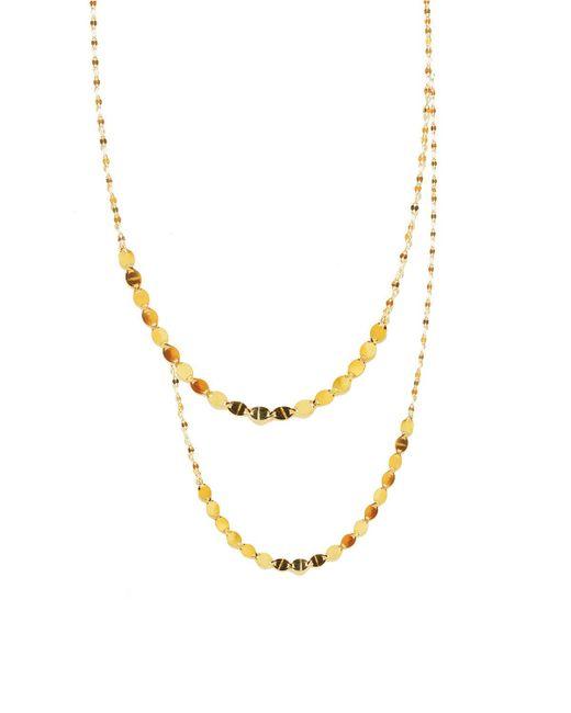 Lana Jewelry - Metallic Nude Duo Multistrand Necklace - Lyst