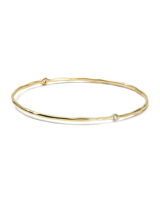 Ippolita - Metallic 18k Gold 2 Diamond Bangle - Lyst