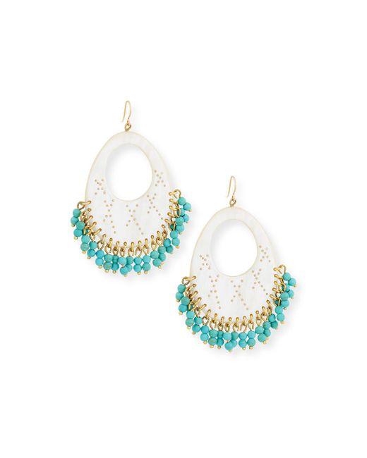 Ashley Pittman - Multicolor Vuka Turquoise Beaded Earrings - Lyst