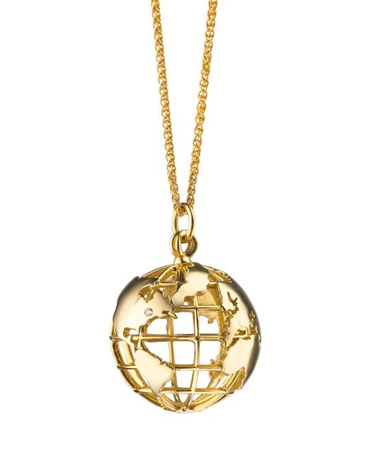 Monica Rich Kosann - Metallic 18k Gold My Earth Necklace - Lyst