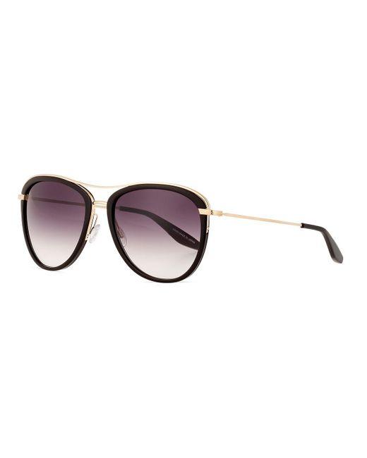 Barton Perreira - Black Aviatress Universal-fit Aviator Sunglasses - Lyst