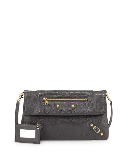 Balenciaga | Black Giant 12 Envelope Clutch Bag With Strap | Lyst