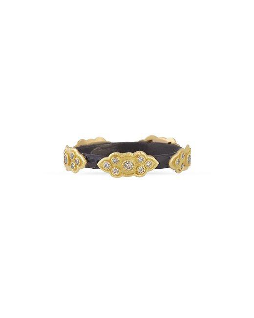 Armenta | Metallic Stackable Champagne Diamond Scroll Ring | Lyst