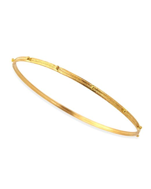 Armenta | Metallic 18k Gold Granulated Bangle | Lyst