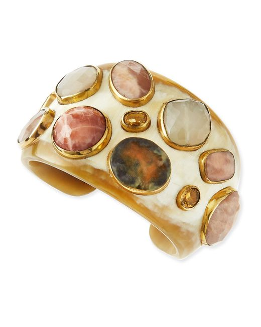 Ashley Pittman | Metallic Mawe Light Horn Stone Cuff | Lyst