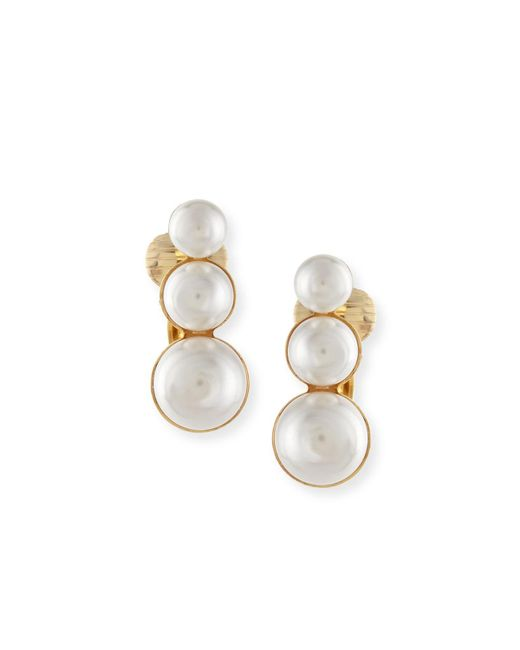 Auden | Metallic Lana Pearly Clip-on Earrings | Lyst