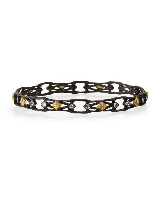 Armenta | Black Sapphire & Diamond Open Cravelli Bangle | Lyst