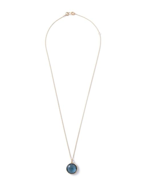 Ippolita | Blue 18k Lollipop Medium Round Pendant Necklace | Lyst