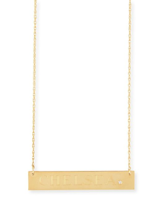 Jennifer Zeuner | Metallic Harley Personalized Diamond Bar Necklace | Lyst