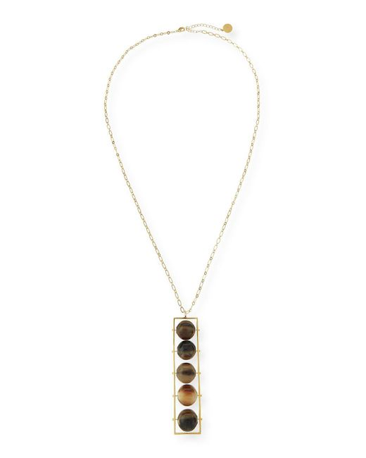 Nest | Metallic Abacus 5-bead Horn Pendant Necklace | Lyst