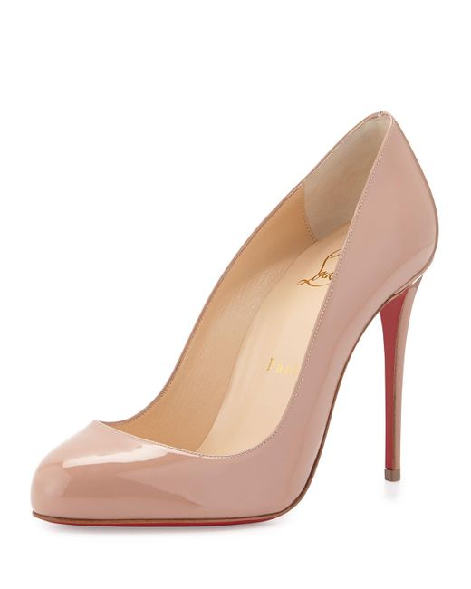 Christian Louboutin | Pink Dorissima Patent Red Sole Pump | Lyst