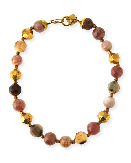 Ashley Pittman | Multicolor Kamili Mixed Horn Beaded Necklace | Lyst