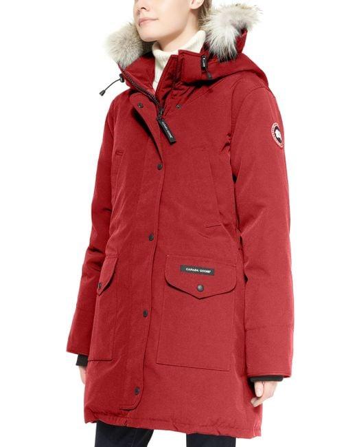 Canada Goose   Red Trillium Fur-hood Parka Jacket   Lyst