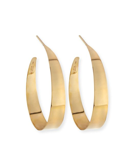 Lana Jewelry | Metallic Small Flat Gloss Hoop Earrings | Lyst
