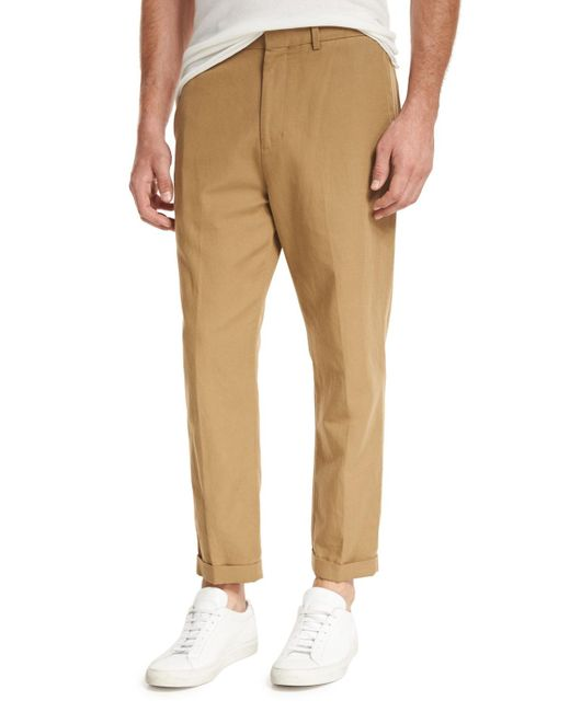 Vince   Blue Relaxed Cropped Trouser for Men   Lyst