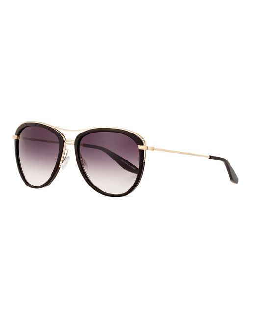 Barton Perreira | Black Aviatress Universal-fit Aviator Sunglasses | Lyst
