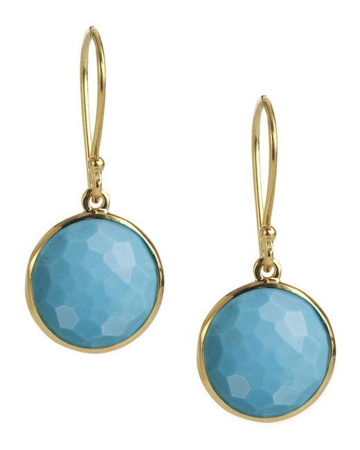 Ippolita | Blue Mini Lollipop Earrings In Turquoise | Lyst