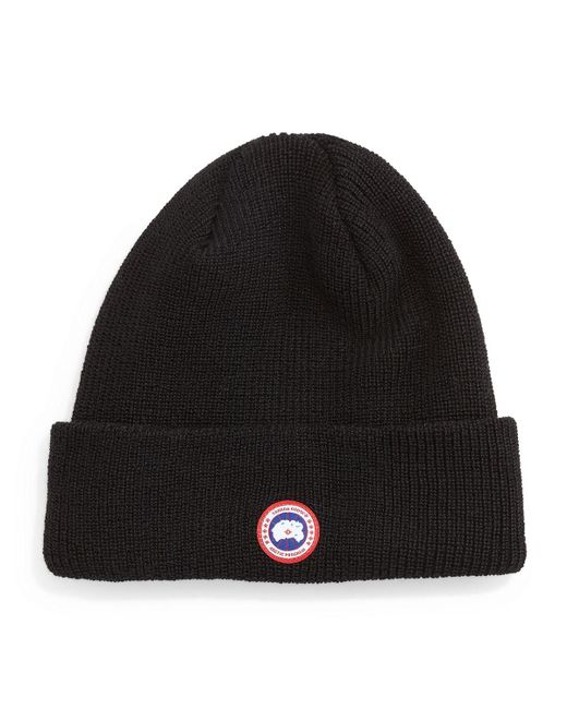 Canada Goose | Black Merino Watch Cap for Men | Lyst