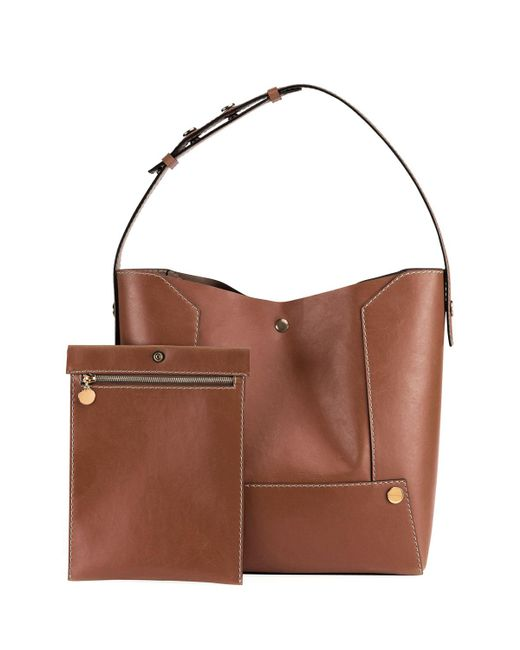 Stella McCartney   Brown Faux-leather Bucket Bag   Lyst