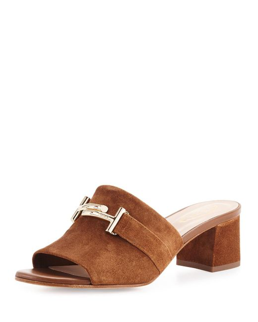 Tod's | Brown Double T Mules | Lyst