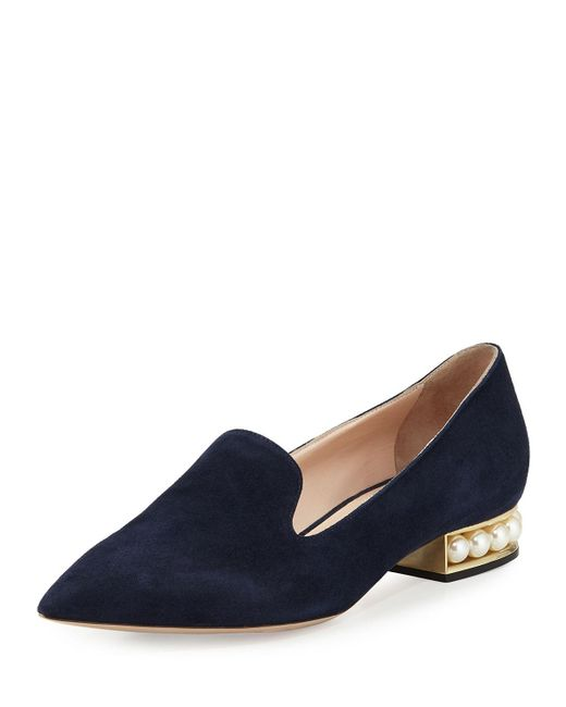 Nicholas Kirkwood | Blue Casati Pearly Suede Loafer | Lyst