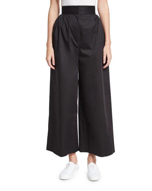 The Row   Black Lado High-waist Wide-leg Pants   Lyst
