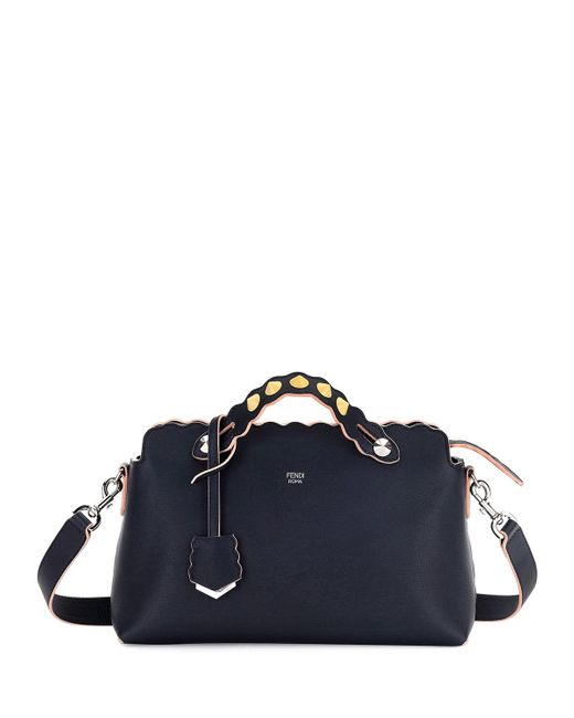 Fendi | Blue By The Way Small Scalloped Satchel Bag | Lyst