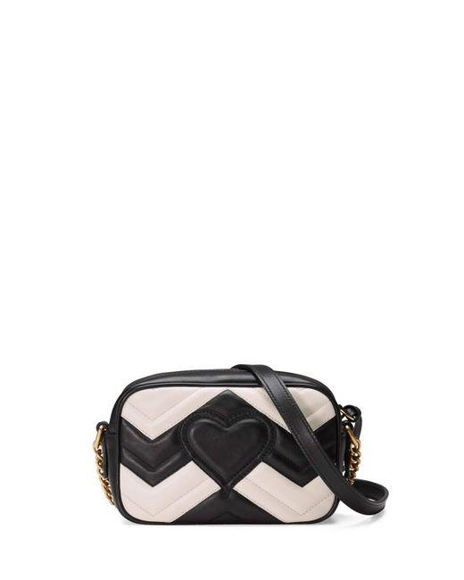 Gucci Gg Marmont Mini Matelass 233 Camera Bag In Black Lyst