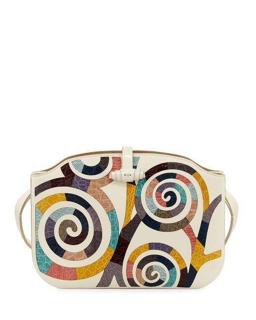 The Row | Multicolor Croissant Crocodile Coil-mosaic Shoulder Bag | Lyst