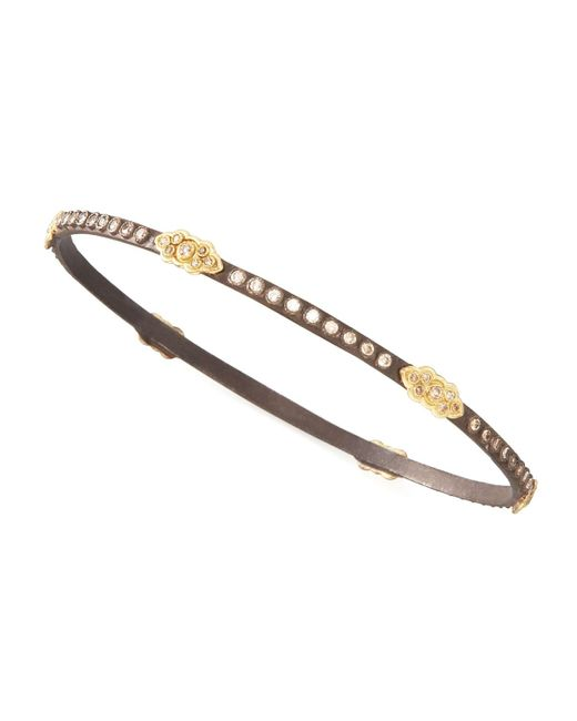 Armenta   Metallic Oxidized Diamond Bracelet for Men   Lyst