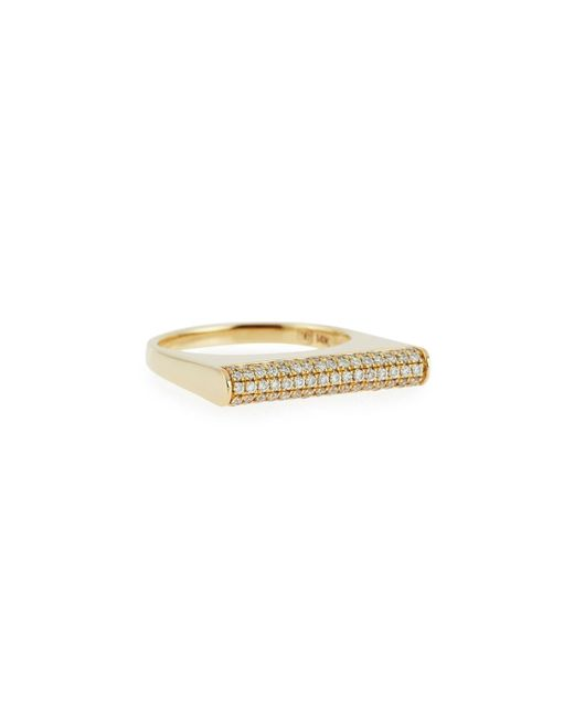 Sydney Evan | Metallic Pavé Diamond Bar Roll Ring | Lyst