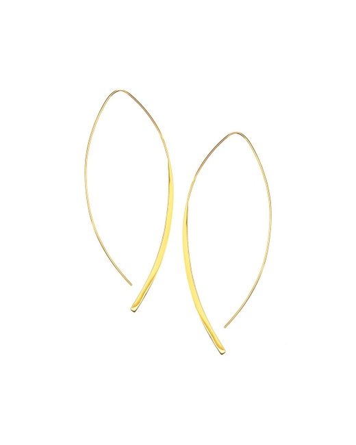 Lana Jewelry | Metallic 14k Gold Large Arch Hoop Earrings | Lyst