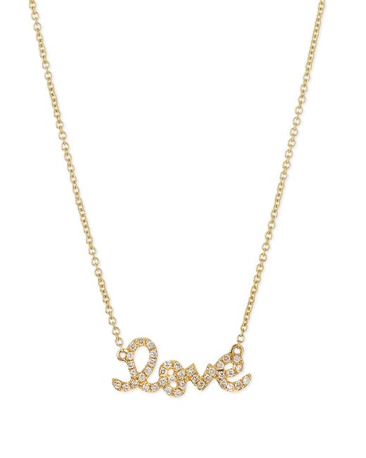Sydney Evan | Metallic Gold Diamond Love Necklace | Lyst