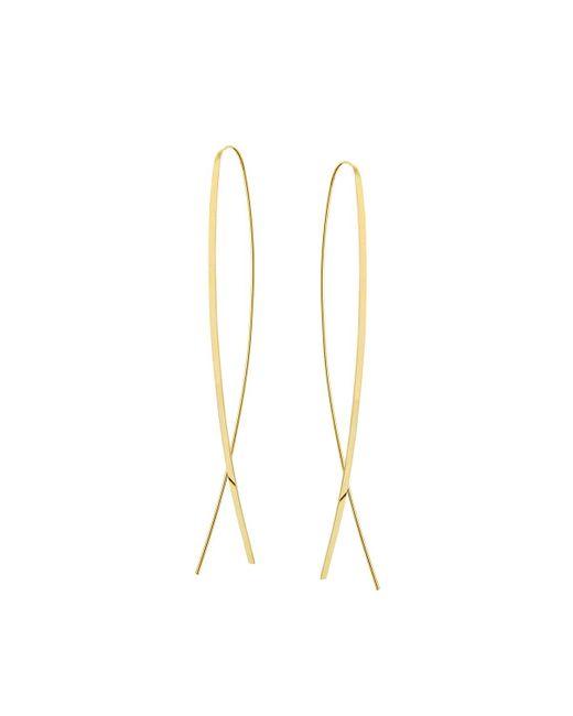 Lana Jewelry | Metallic Mega Narrow Flat Upside Down Hoop Earrings | Lyst