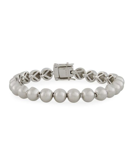 Eddie Borgo | Metallic Sterling Silver Dome Bead Bracelet | Lyst