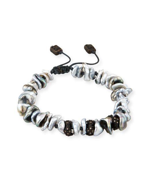Armenta | Black Old World Midnight Keshi Pearl Bracelet With Champagne Diamonds | Lyst