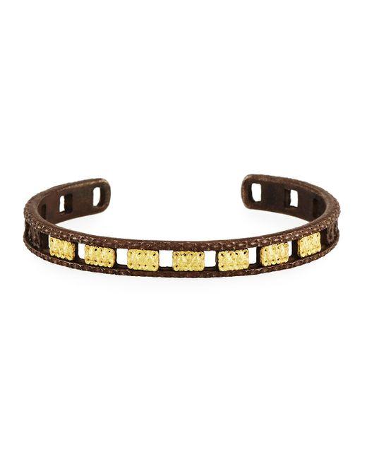 Armenta   Metallic Old World Midnight Open Carved Cuff Bracelet   Lyst