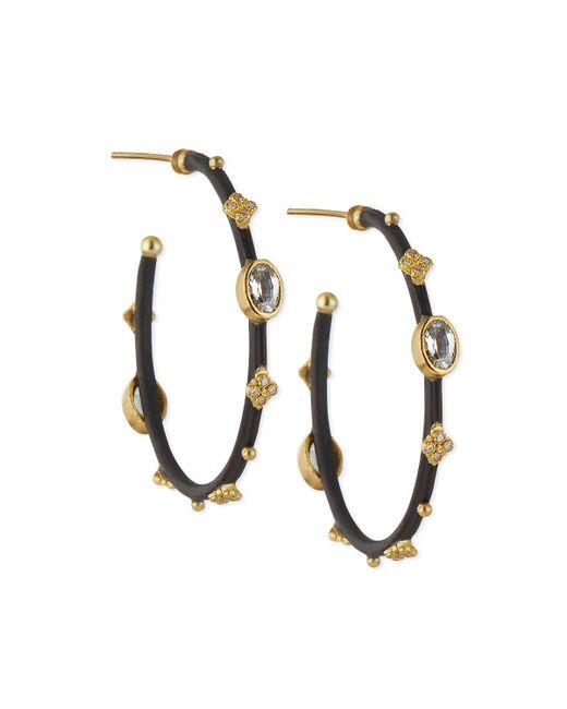 Armenta | Metallic Midnight Sapphire & Diamond Small Hoop Earrings | Lyst