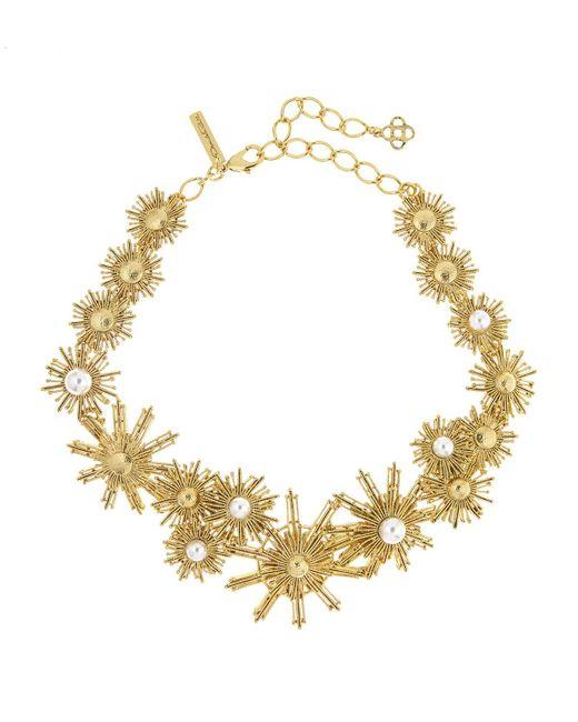 Oscar de la Renta   White Pearly Sun Star Necklace   Lyst