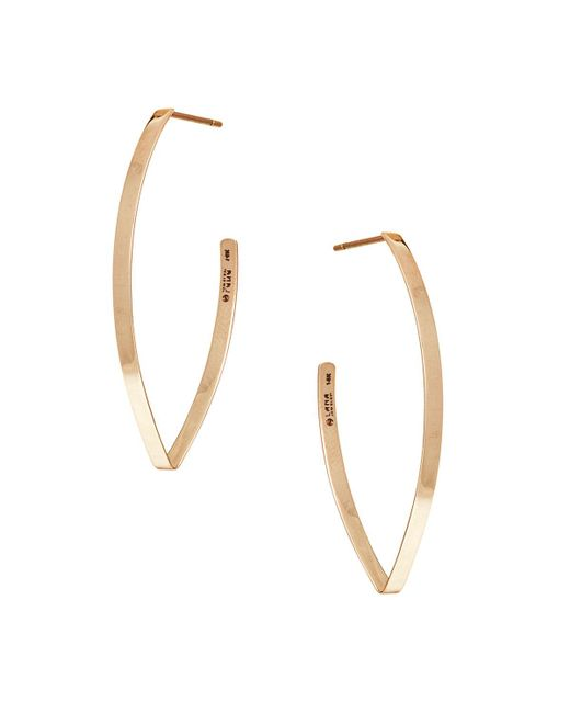 Lana Jewelry | Metallic Small Flat Blake Hoop Earrings | Lyst
