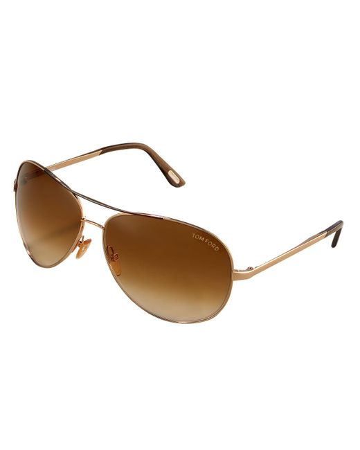 Tom Ford | Metallic Charles Aviator Sunglasses for Men | Lyst