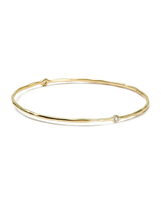 Ippolita | Metallic 18k Gold 2 Diamond Bangle (size 1) | Lyst