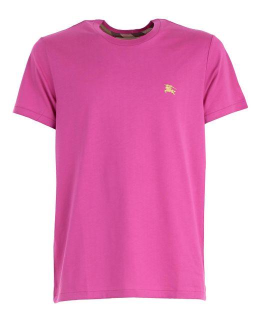 Burberry - Pink T-shirt for Men - Lyst