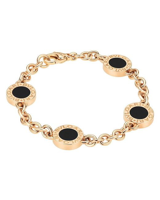 BVLGARI - Black Onyx & Mother-of-pearl Reversible Bracelet - Lyst